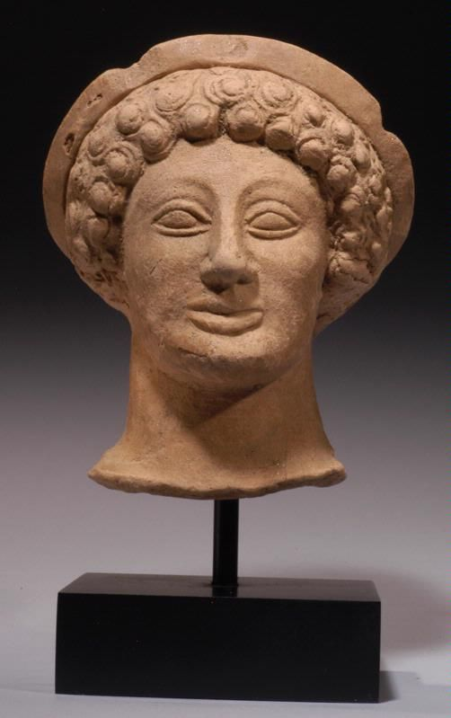 Greek Terracotta Head Of A Maenad Greece Art Greek Artifacts Ancient Greece