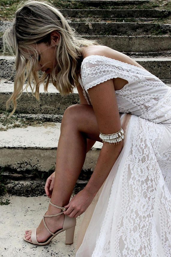 Photo of Women's nude bridal shoe, nude leather heels, block heel shoes, block heel bridal shoe, nude bridal shoe: Peace & Love Nude