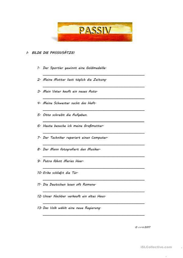 Passiv | Немецкий язык | Pinterest | Deutsch