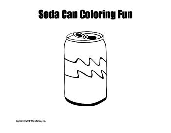 Soda Can Coloring Page Coloring Pages Canning Color