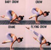 Yoga Asana * Von der Babykrähe zur fliegenden Krähe - Yoga & Fitness  Yoga Asana * Von der Babykrähe...