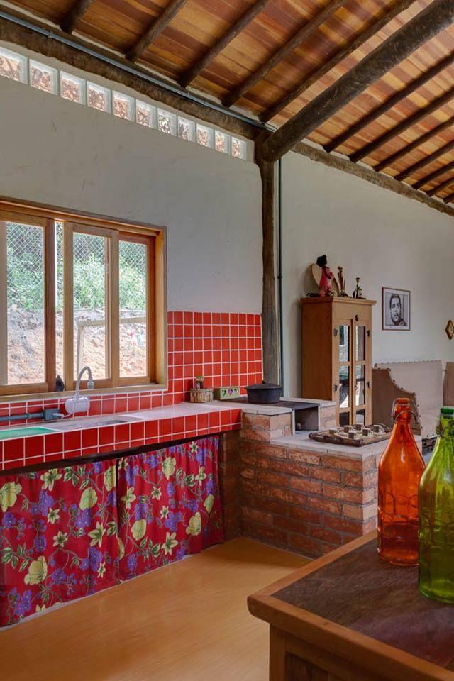 Cozinha de fazenda simples