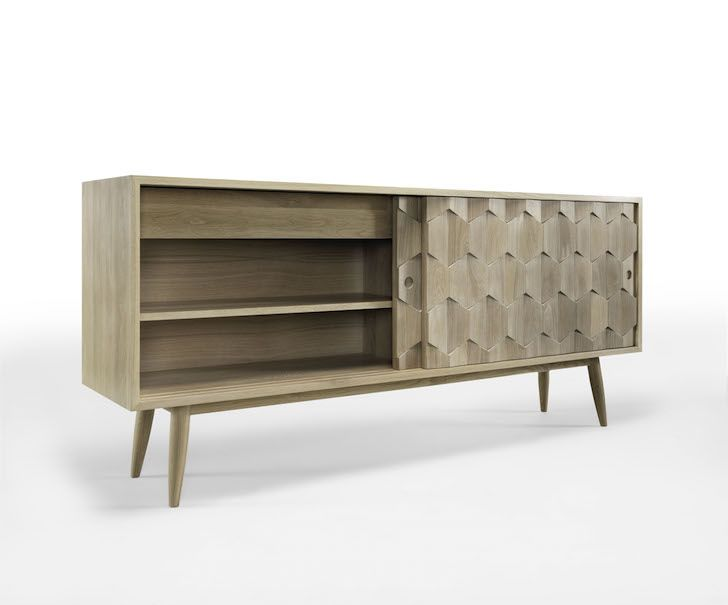 Wewood Designs Textured Sideboard Made From Oak And Walnut