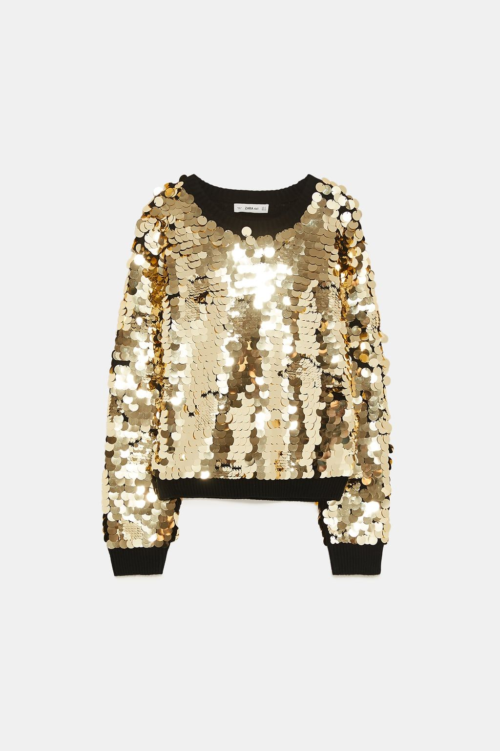 5ead25ee3192c Image 7 of SEQUINNED SWEATER from Zara   STITCH FIX   Sweaters ...