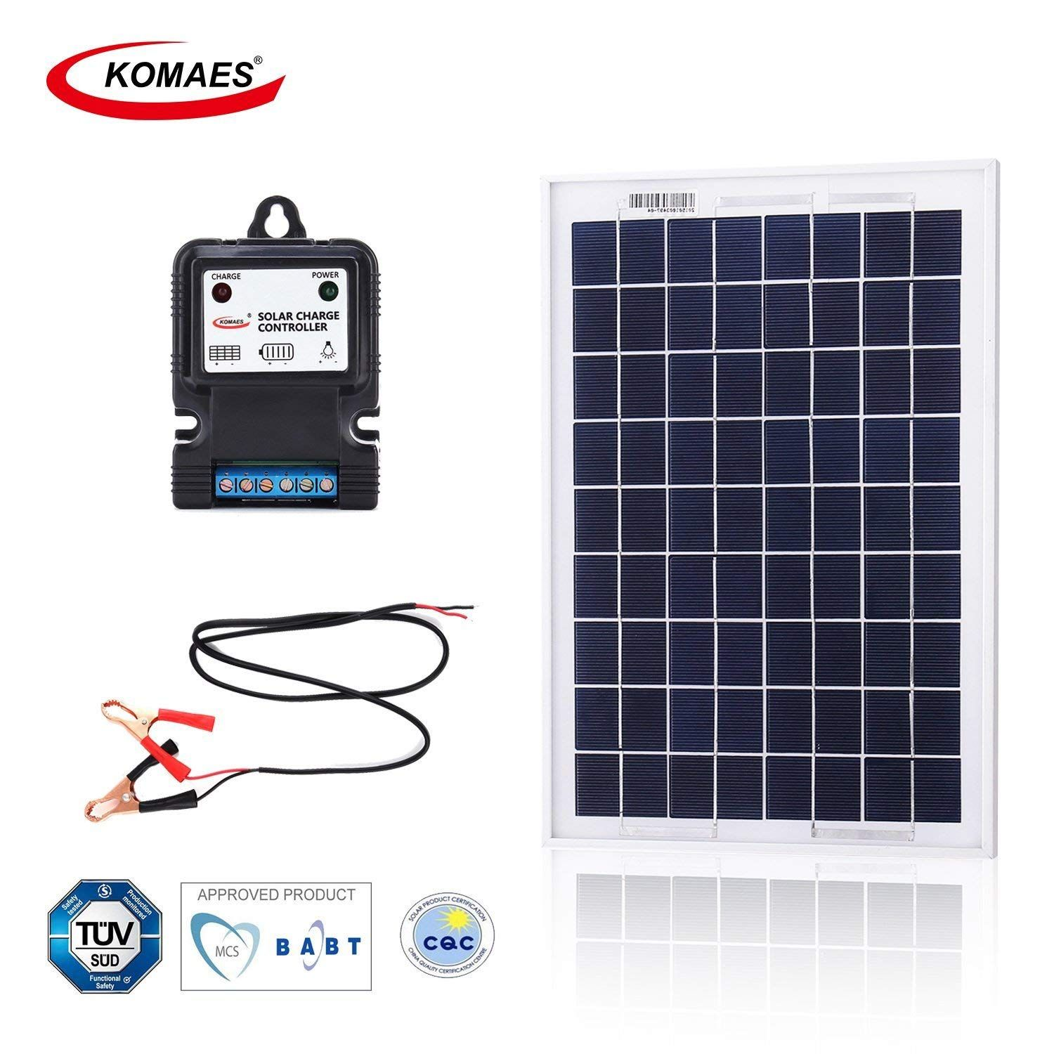 Komaes 10 Watt 12volt Polycrystalline Photovoltaic Pv Solar Panel Kit 12v Solar Power Starter Kit With Mc4 Connector Solar Energy Panels Solar Technology Solar Panels