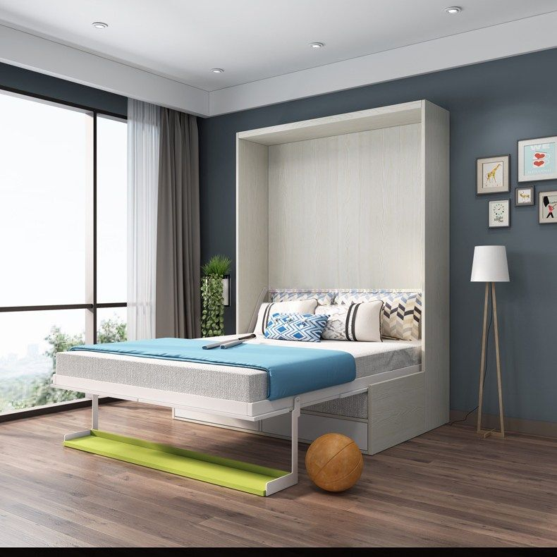 Fabric Bed Frame Soft Electric Sofa Wall Bed Home Bedroom