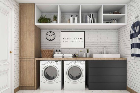 Photo of Laundry Room Decor | Laundry Room Signs |  Wash Dry Fold & Sign | Laundry Sign | Home Decor | House Sign | Quote Prints | Housewarming Gift