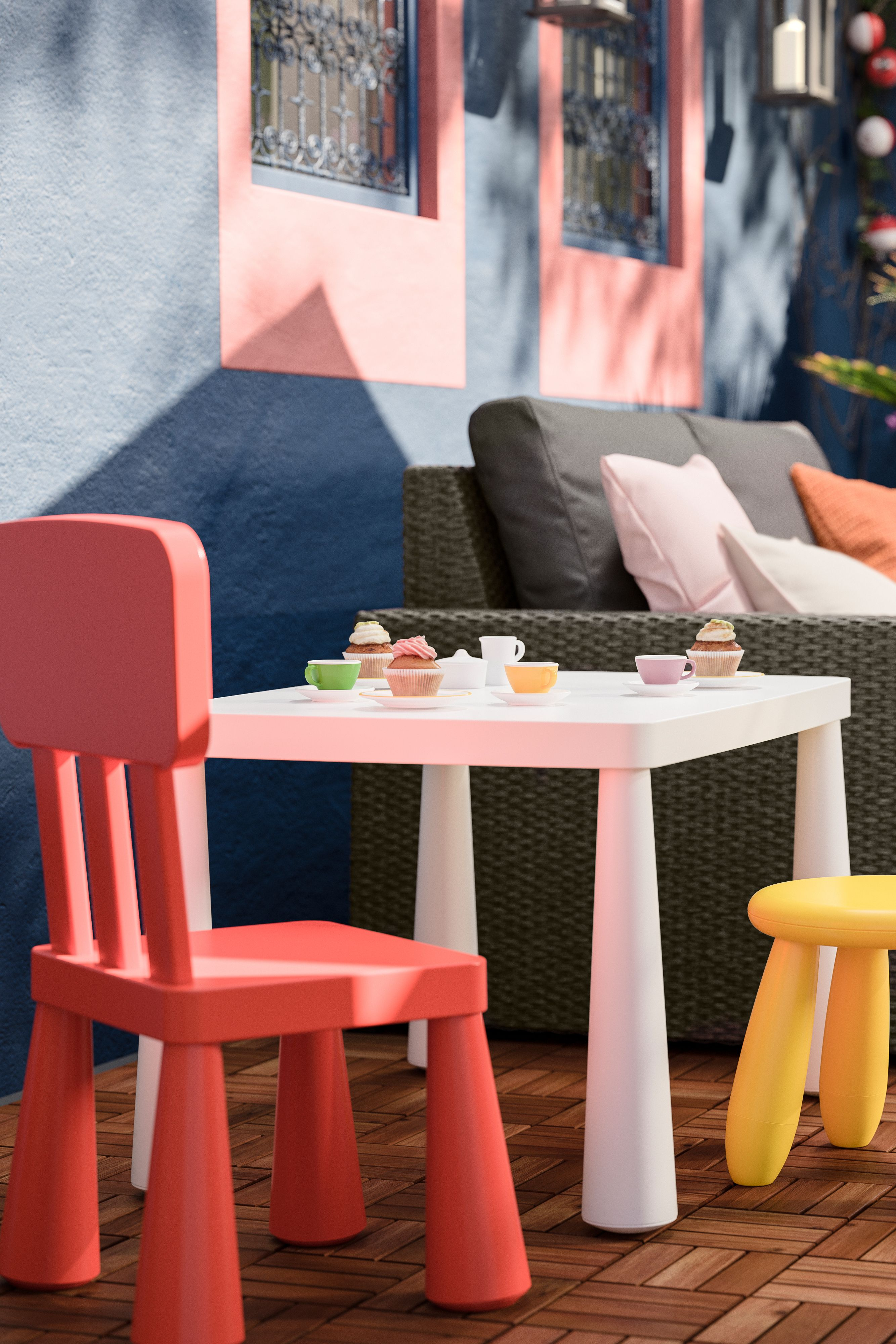 Mammut Kinderstuhl Drinnen Draussen Rot Ikea Deutschland Ikea Gartenmobel Sets Kindertisch