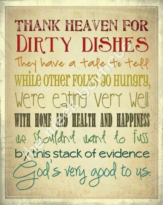 I just need to keep reminding myself this as I wash dishes.... every ...