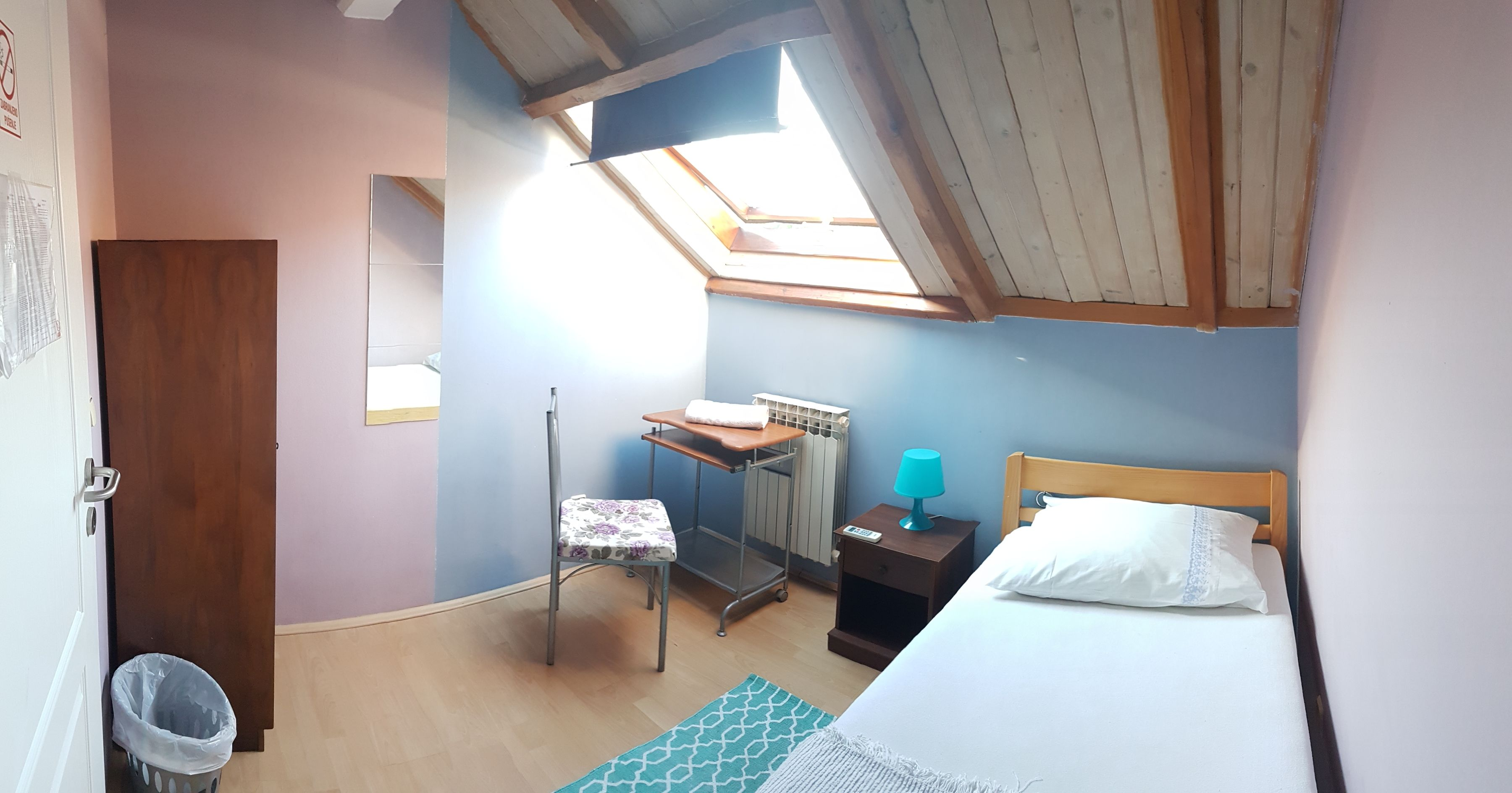 Single Room Blue Pastel Roof Top Home Decor Room Home