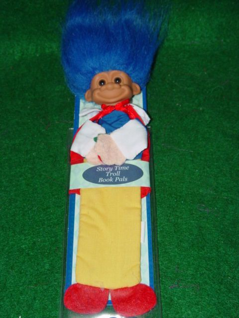 """Troll Doll 8"""" Russ Bookmark Story Time  Snow White Storybook RARE"""