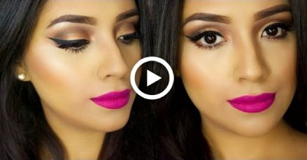Photo of EASY Spring Makeup Tutorial 2015| BOLD PINK LIPS + Simple Bronze Eyes