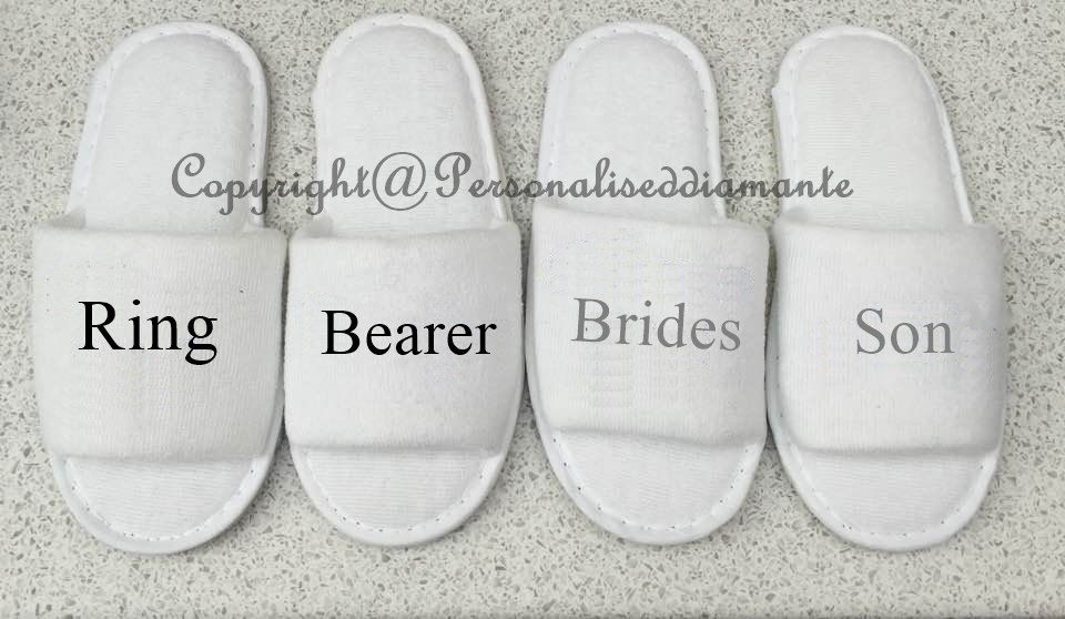 Page boy slippers, ring bearer slippers