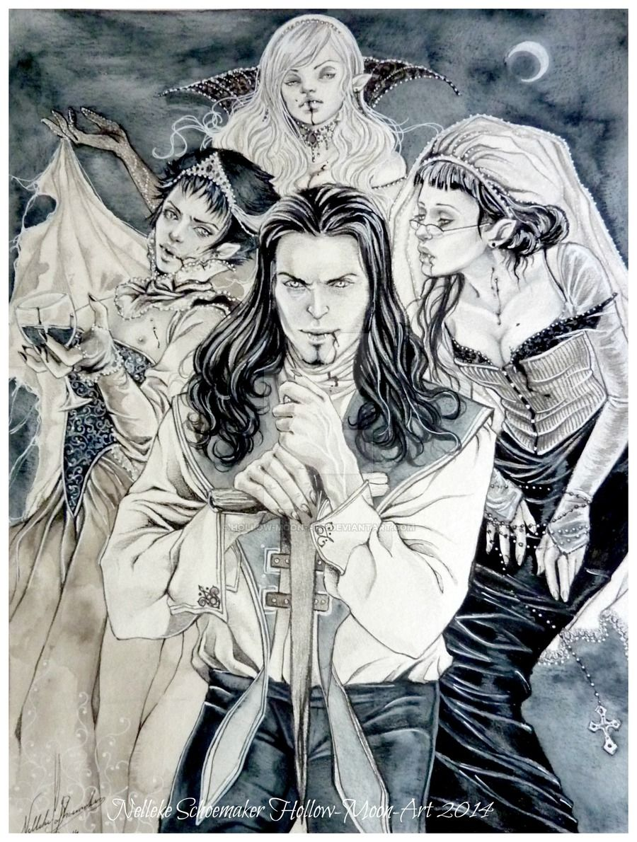 dracula_and_his_brides___midnight_feast_by_hollow_moon_art-d7pq8ra.jpg (900×1190)