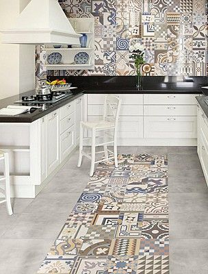 Rivestimenti Cucina Carta Da Parati.Patchwork Cucina Wallpaper Arredo Interni Cucina E Idea Di