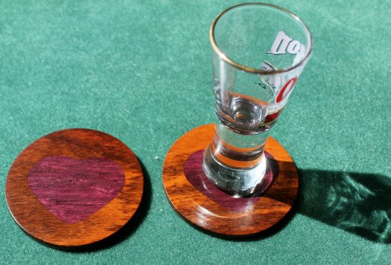 Wooden Shot Glass Coasters