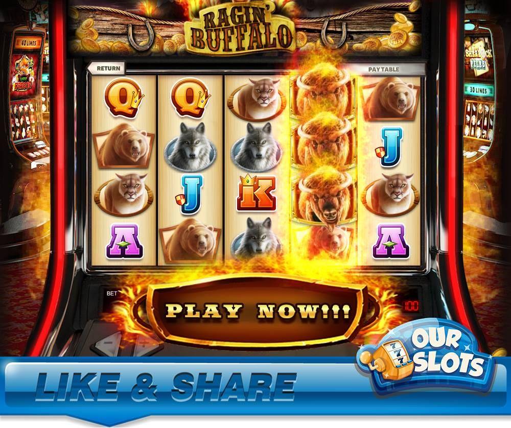 Ragin Buffalo Slot Https Apps Facebook Com Our Slots Play Slots Buffalo Game Design