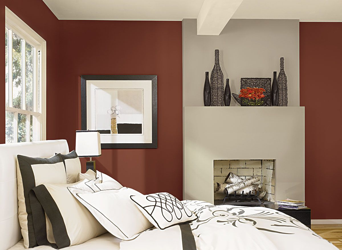 Benjamin Moore Paint Colors Red Bedroom Ideas Earthy Color Schemes Walls Are A Bold Counterpoint To This