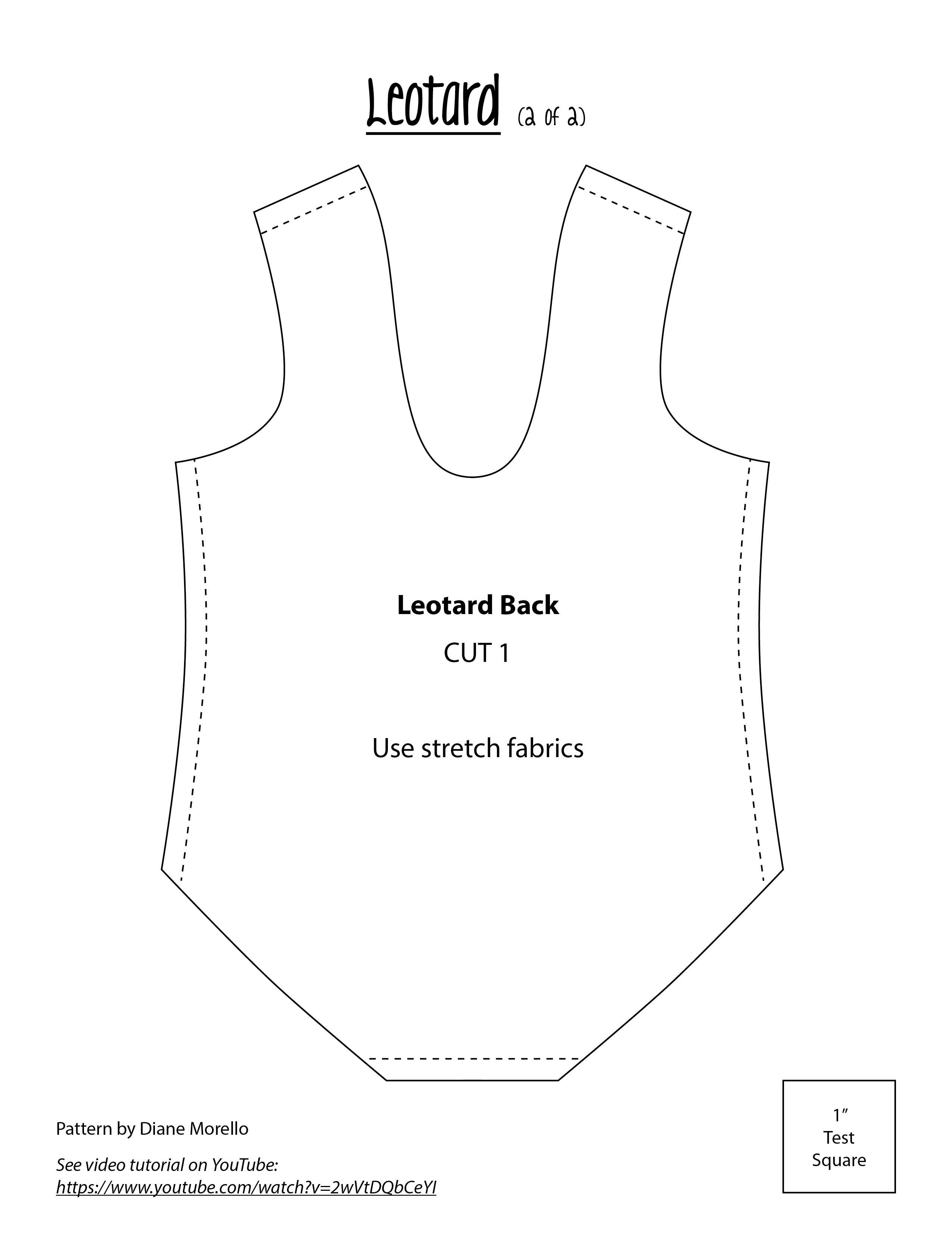 Leotard back. Neckline can be lowered if you want an easier fit.