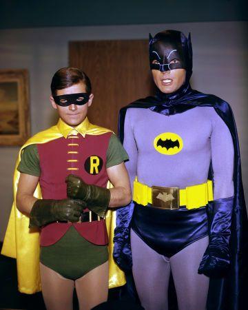 "Heros Annee 70 burt ward as robin and adam west as batman ""batman"" (1966-68"