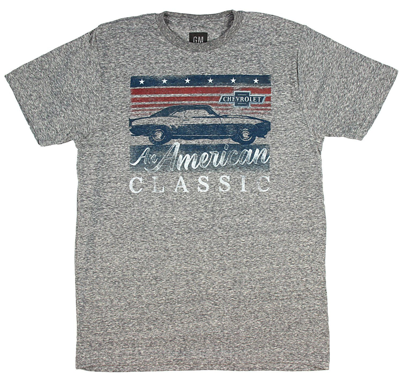 Gm Chevrolet T Shirt American Classic Camaro Distressed Logo Men S Grey American Shirts Classic Camaro Shirts