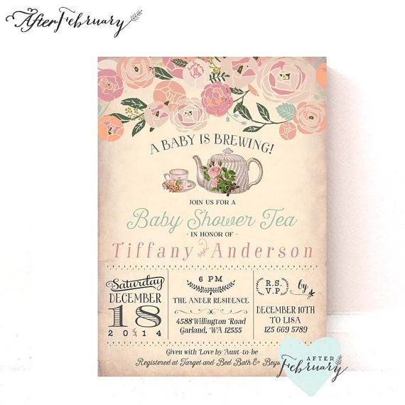 hello - welcome to afterfebruary ▷ description • this listing is, Baby shower invitations