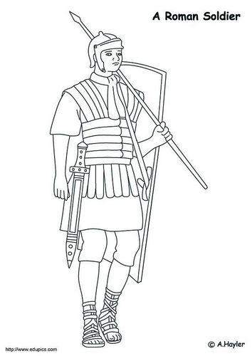 Kleurplaten Van Het Huis Anubis.Kleurplaat Romeinse Soldaat Romeinen Romeinse Soldaten Romeinen