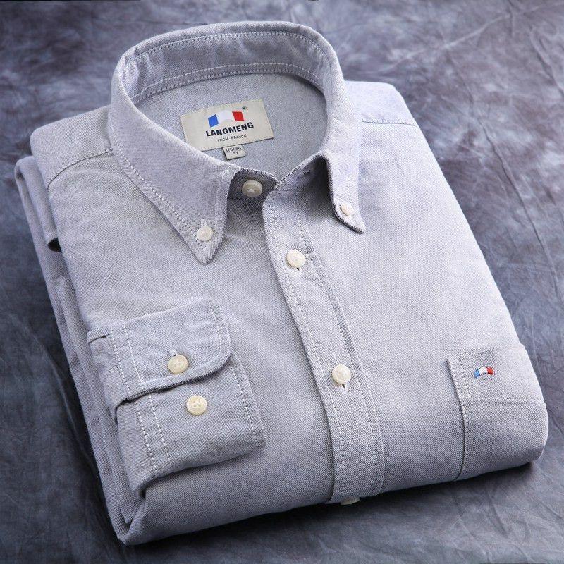 Men brand shirt new spring autumn mens casual shirts high quality ...