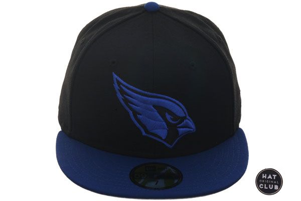 Hat Club Original New Era 59fifty Arizona Cardinals Fitted Hat 2t Black Royal Hats For Men Fitted Hats New Era 59fifty