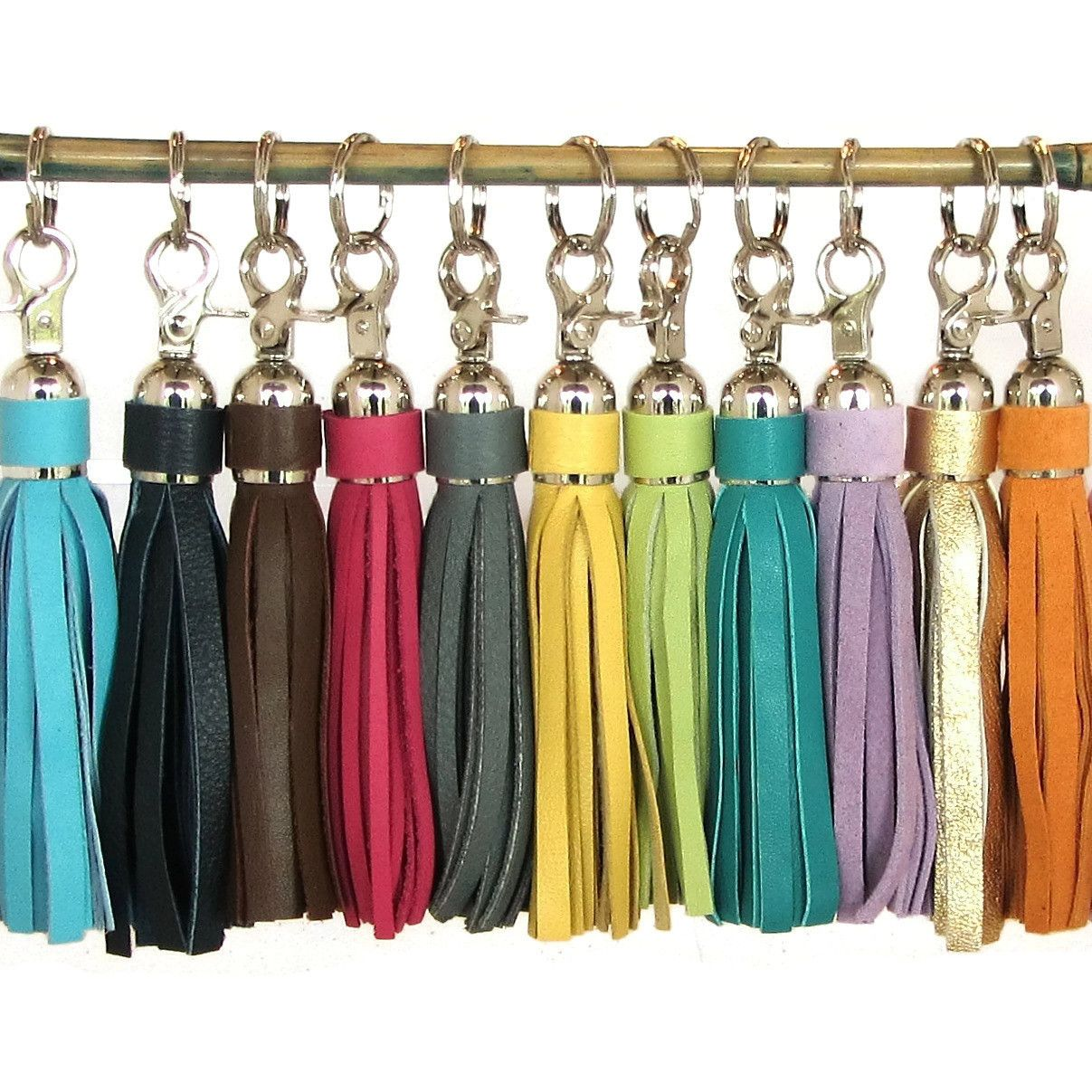 Silver Leather Tassels in 25 Colors! (http://www.lemonberrylane.com/silver-leather-tassels/) #tassels