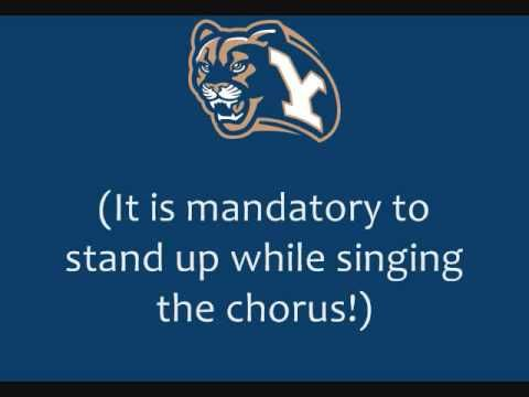 "Brigham Young University Cougars - fight song with words - ""The Cougar (Fight) Song"" - a k a: ""Rise and Shout, the Cougars are Out"""