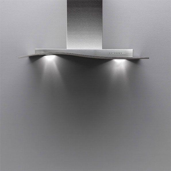 Falmec Design Onda Inox Parete 600 - 90 cm - Onda Inox-parete-600-90 - Hottes Murales