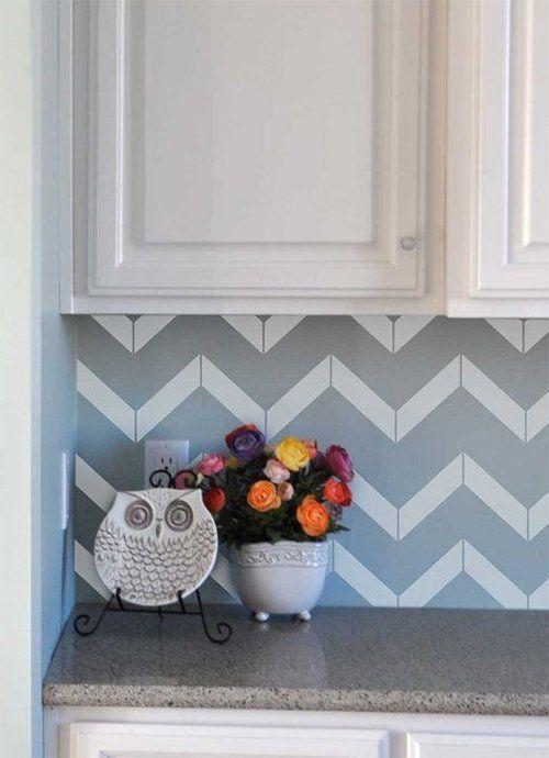 kitchen wallpaper backsplash | Küchen Design | Pinterest | Kitchen ...