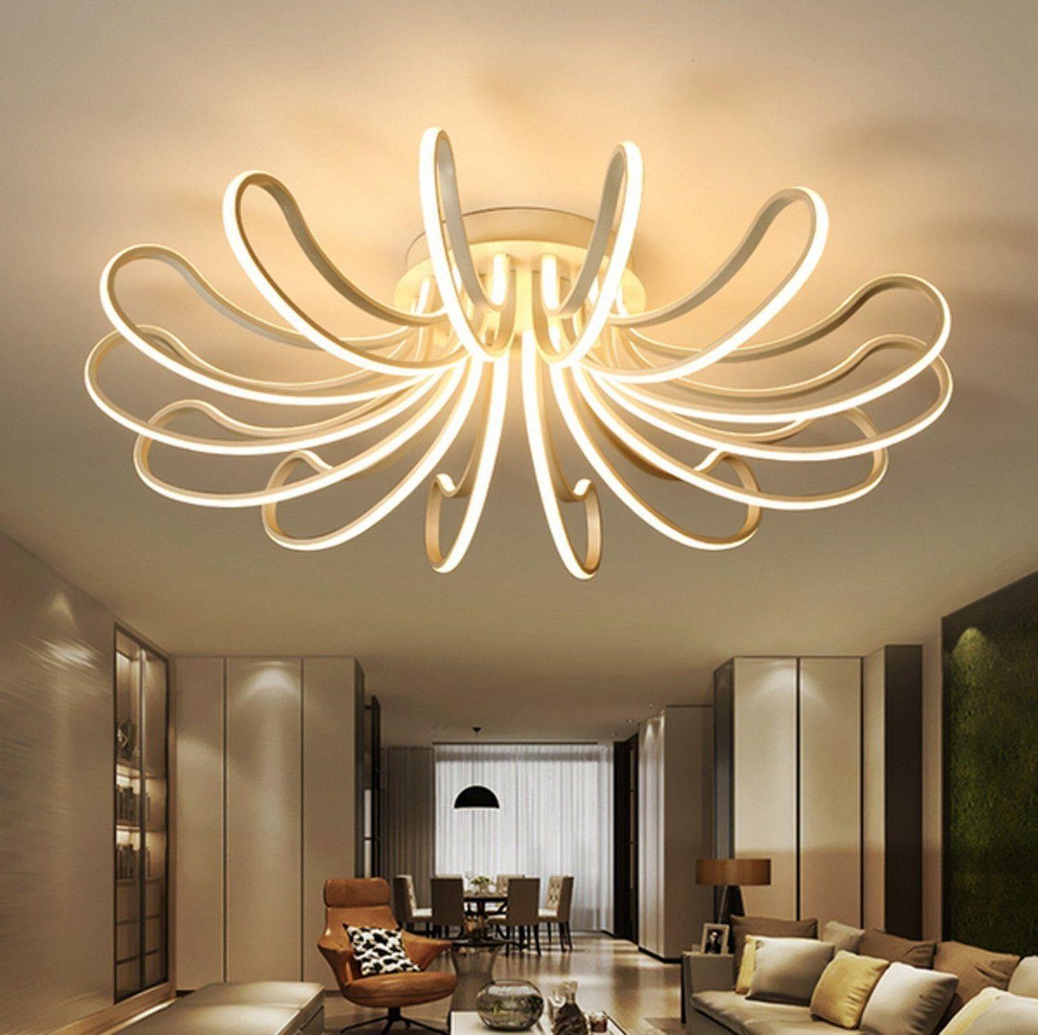 10 Wohnzimmer Deckenleuchten Fashionable in 10  Lampen