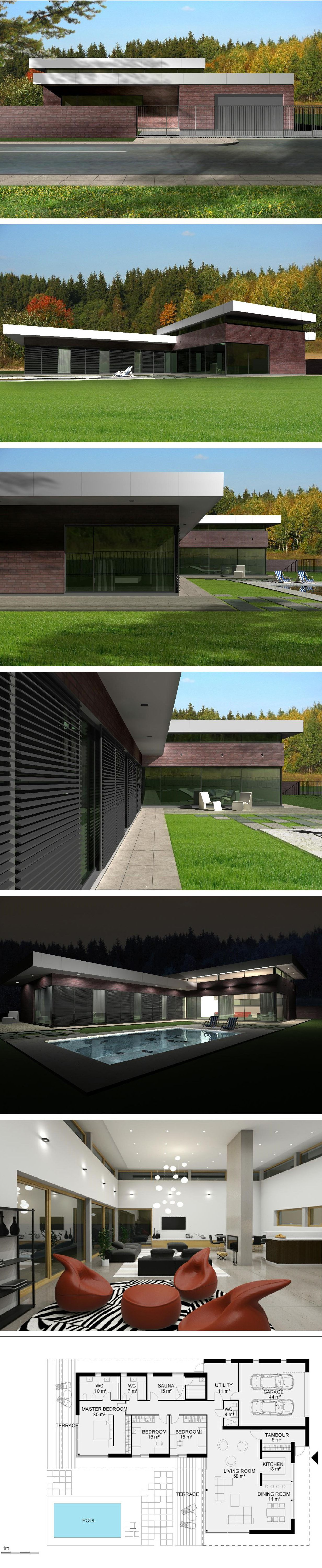 Modern house by NG architects http://ngarchitects.lt/en/projects-34