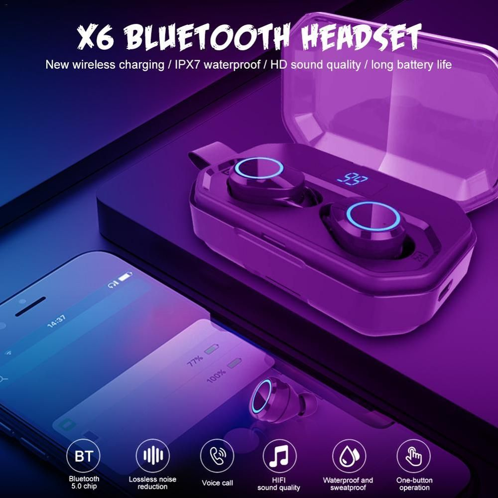 Tws X10 Wireless Earphones Bluetooth Ipx7 Waterproof Volume Control Bt V5 0 Noise Reduction 3d Stereo 3500mah Battery Capacity Bluetooth Earphones Headphones Aliexpress