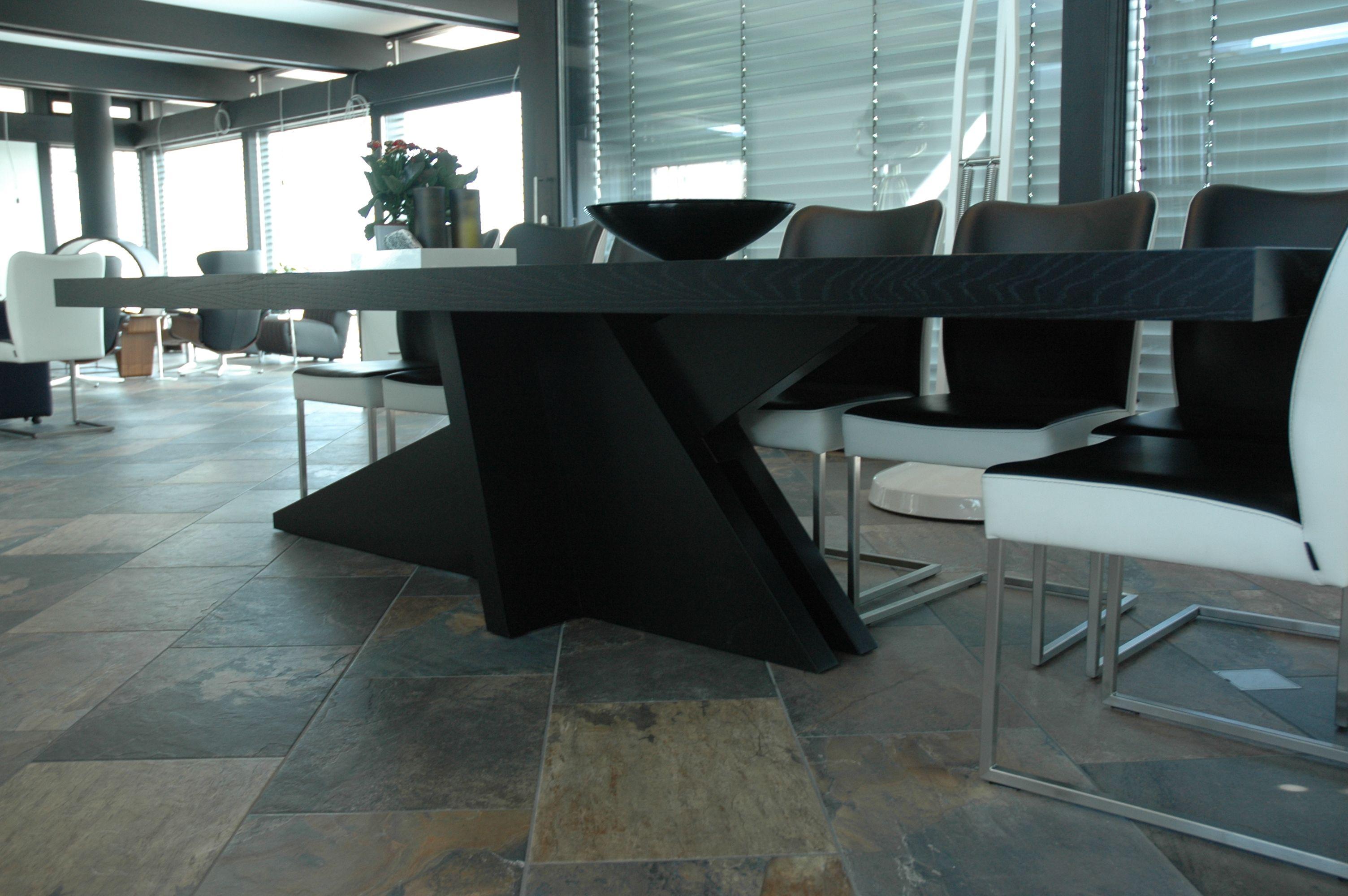 10x Vierkante Eettafel : Eiken eettafel in dekkend zwart gespoten eettafel eettafel
