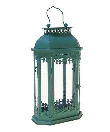 Another great find on #zulily! Aqua Metal Lantern #zulilyfinds