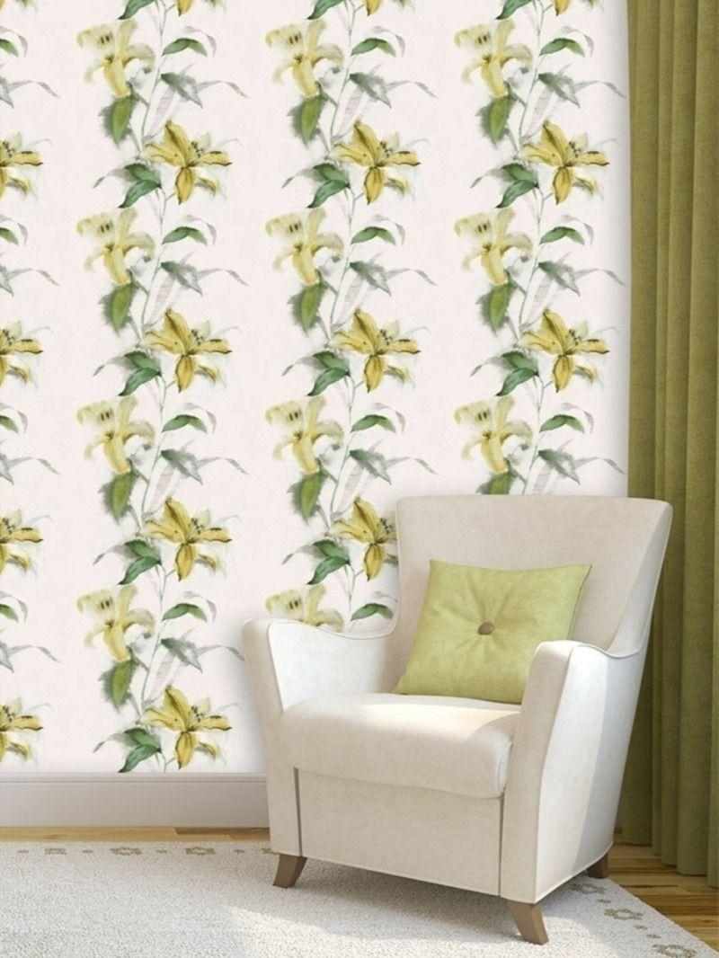 Pvc Vinyl Decorative Wallpaper With Floral Pattern 57 Sq Ft Wallpaper Decor Floral Wallpaper Buy Wallpaper Online