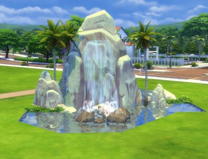 Pinnacle Rock and Waterfall by Snowhaze at Mod The Sims