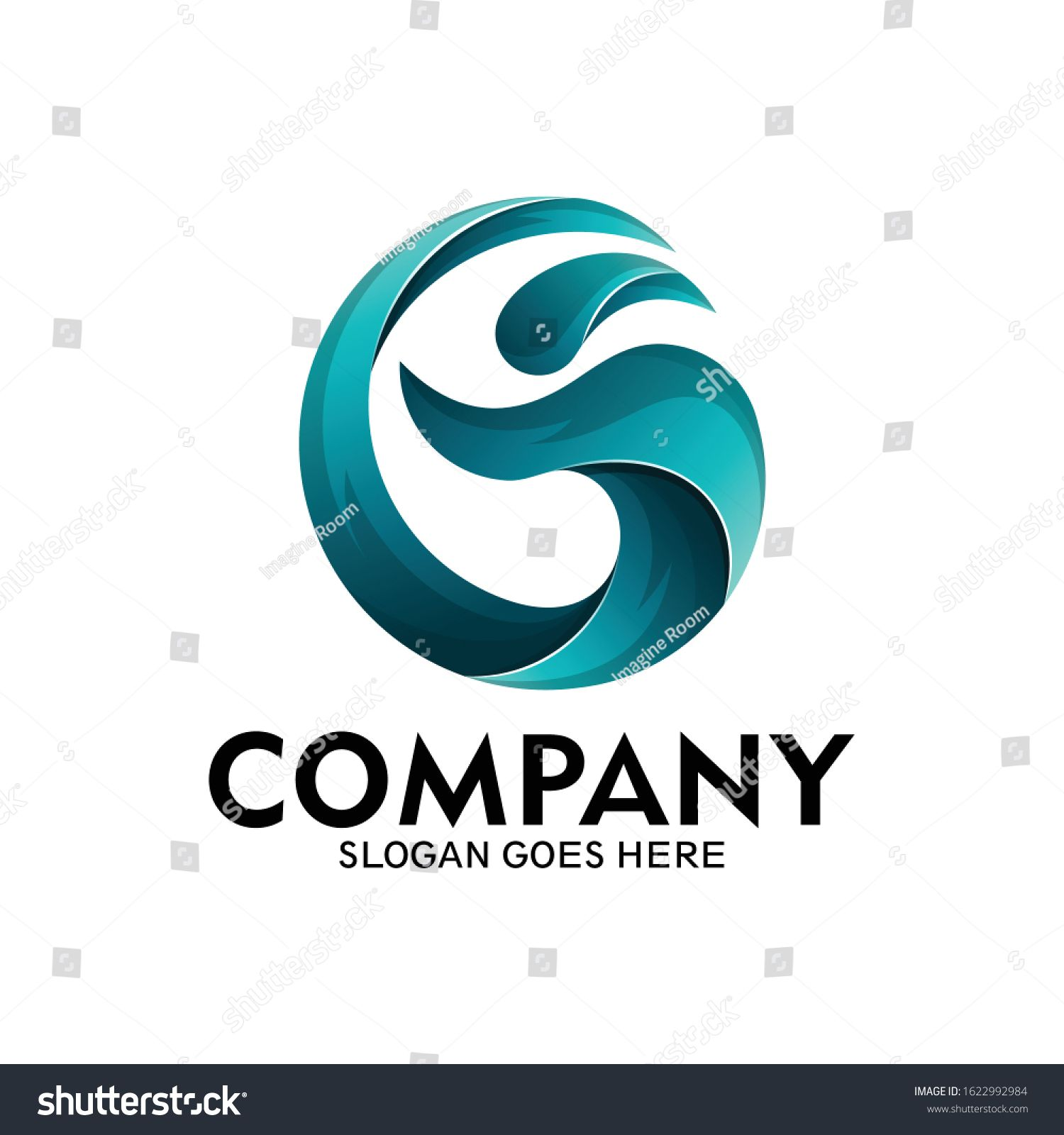 Logo Letter G And People With Sea Wave Style Modern Wave Logo People And Letter G Vector Ad Ad People Sea Logo Letter Waves Logo Letter Logo Sea Logo