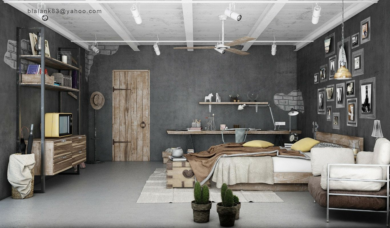 Awesome Industrial Bedroom Design Ideas For Unique Bedroom Style 23 Https Www Youtub Industrial Bedroom Design Brown Bedroom Decor Industrial Interior Design