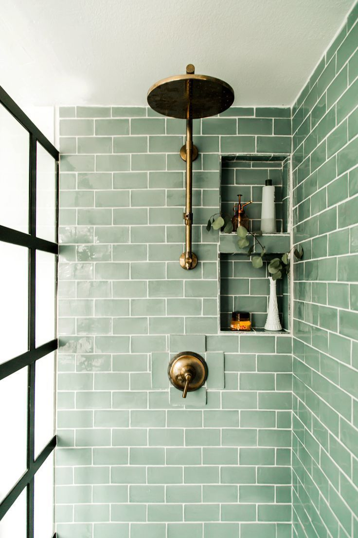 beautiful green tiles for the toilet - Roomideasapartment.club #interiorremodel