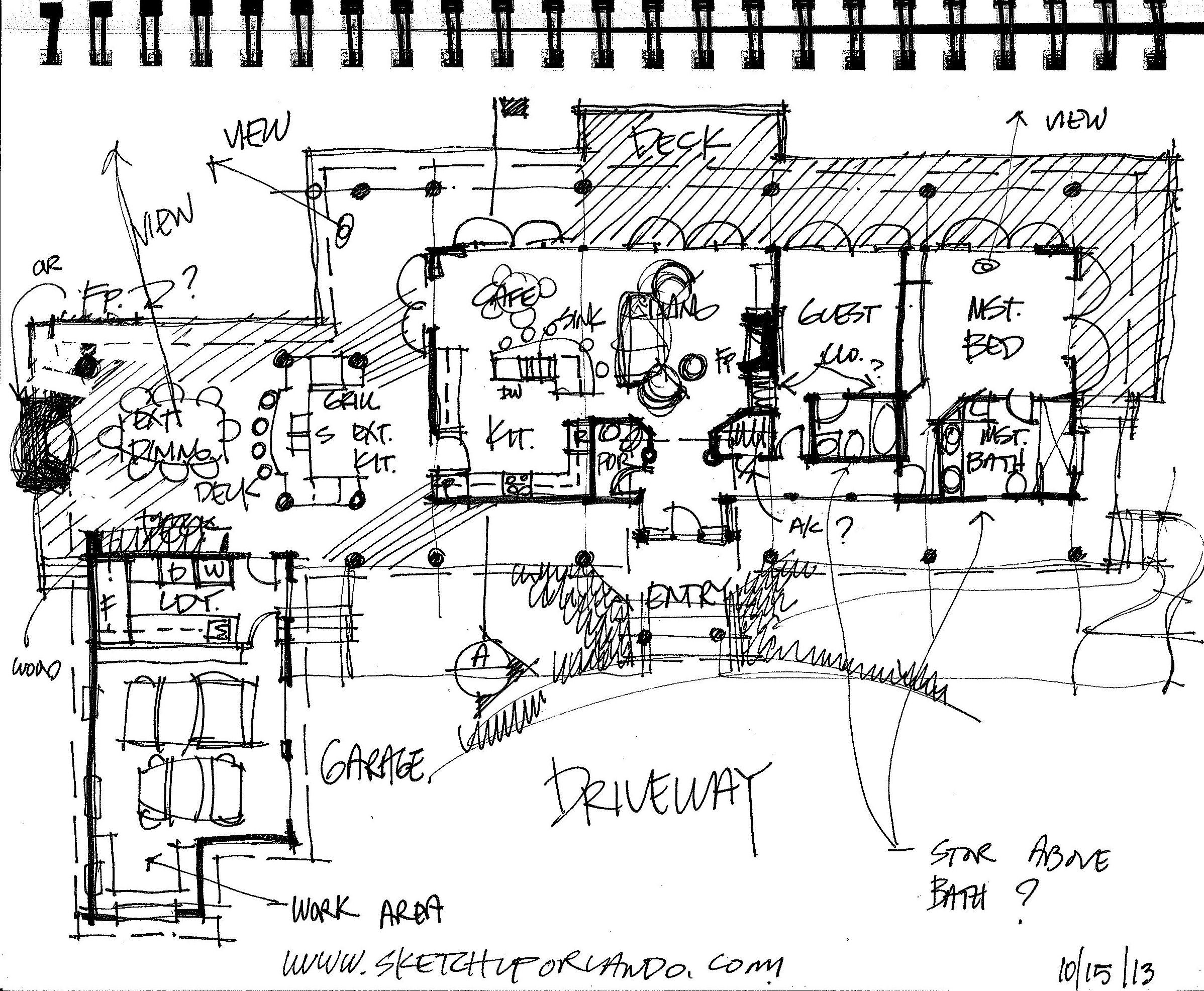 Sketch Floor Plan For The Hidden Sequoia