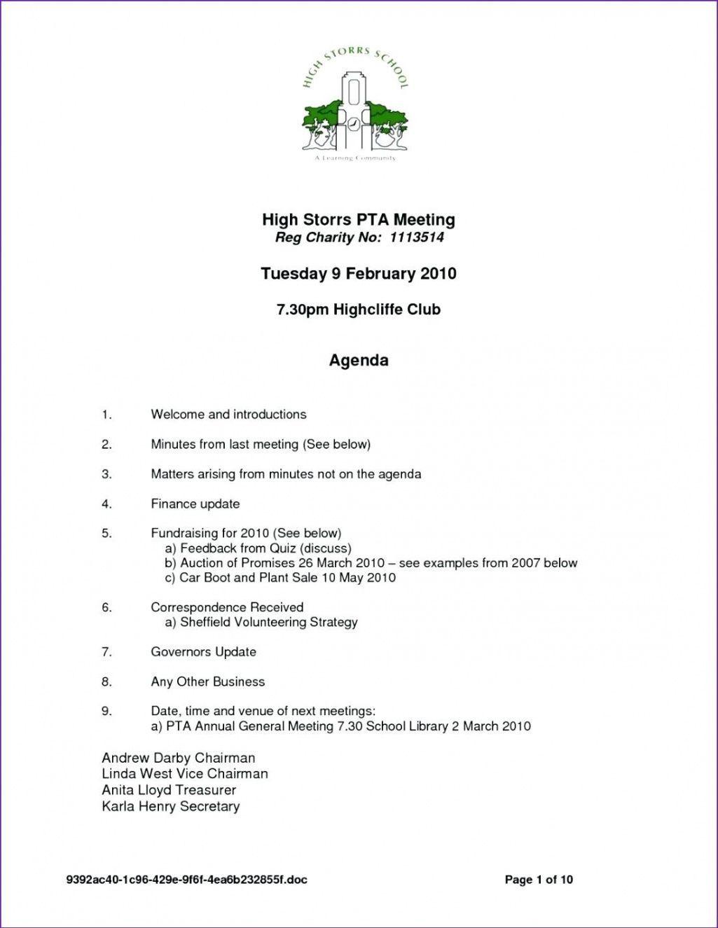 Editable Meeting Agenda Sample Template Doc Meinhobbygartenclub Pta Meeting Agenda Template Pta Meeting Meeting Agenda Template Agenda Template