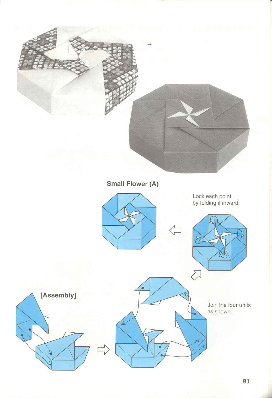 Origami origami modular adobracia dobrar papel papel dobrado diagrama da caixa modular octogon box small flower a jeuxipadfo Gallery