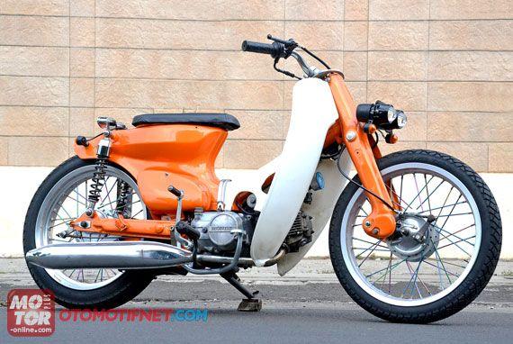 modifikasi motor honda c 70  paling bagus