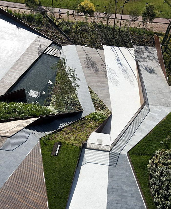 Modern Landscape Design For Small Spaces: Public Space For Business Forum