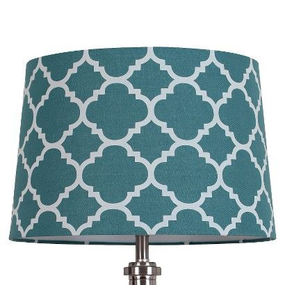 Threshold flocked ogee lamp shade zenith teal ebay finds threshold flocked ogee lamp shade zenith teal aloadofball Image collections