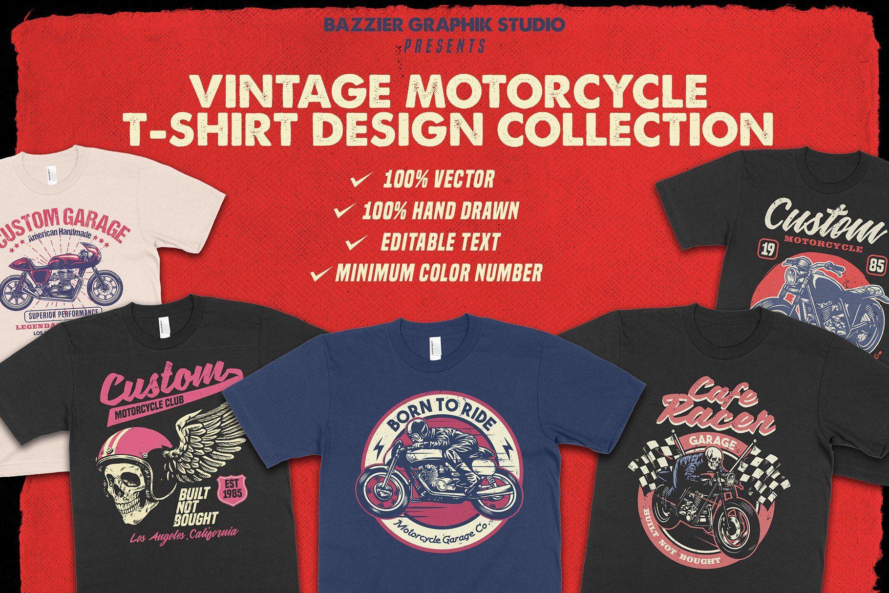 Vintage Motorcycle T Shirt Design Tshirt Designs Shirt Designs Motorcycle Tshirts